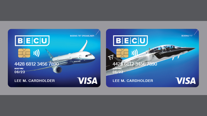 Pictures of Boeing Visa Cards