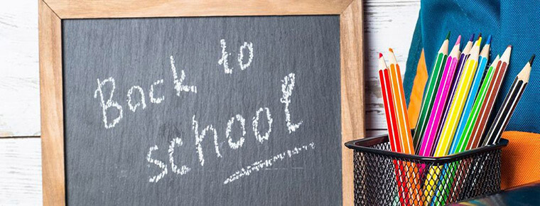 Chalk board that says Back to School