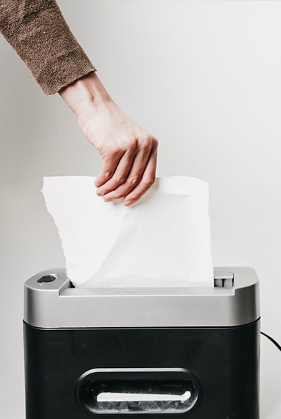 Hand shredding paper