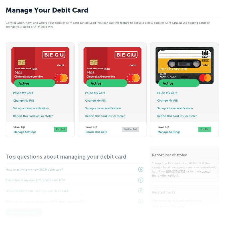 Bank at Home Manage Your Debit Card