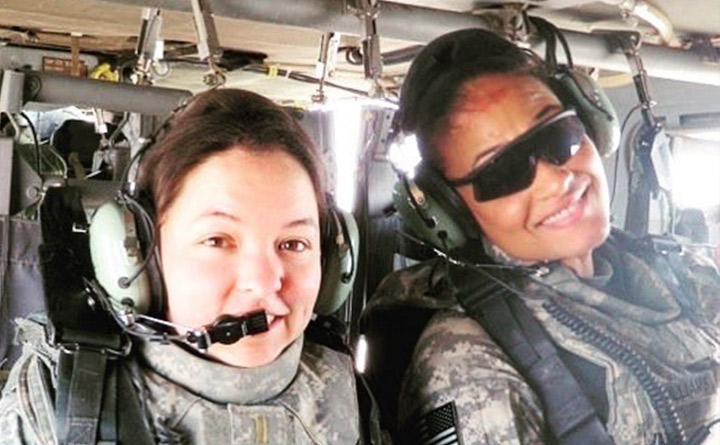 Two Veterans in a Helicopter